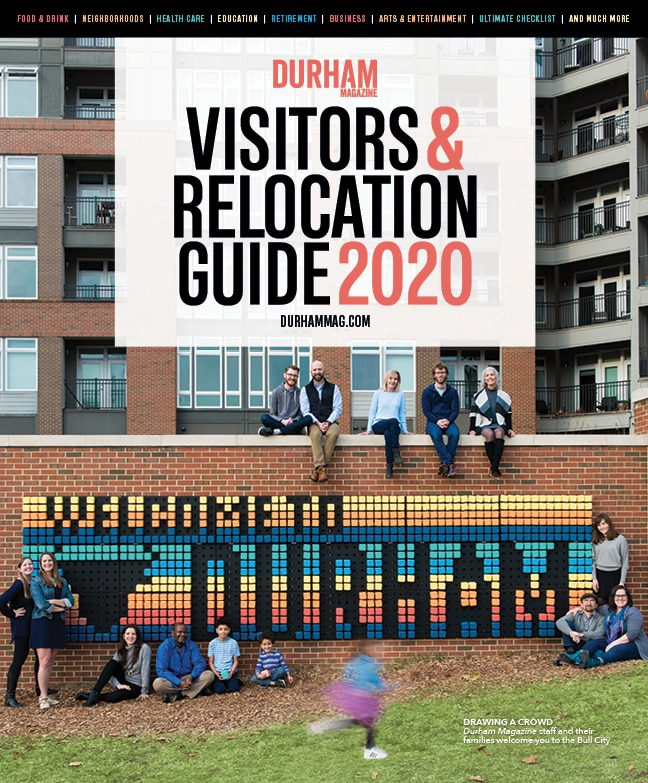 Front cover of Durham Magazine's Visitors & Relocation Guide 2020