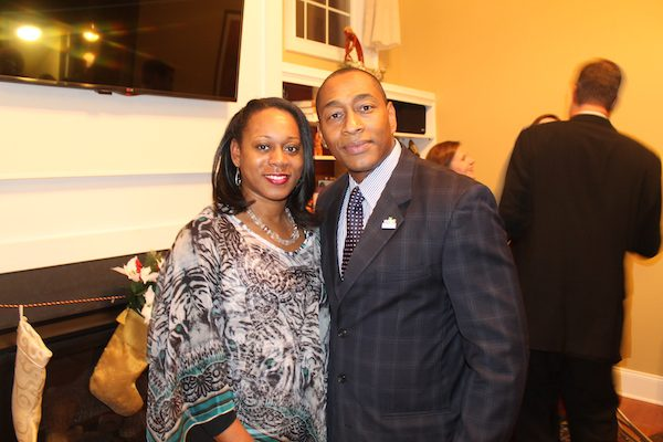 Letisha Judd, principal of Y.E. Smith Elementary School -- one of EDCI's target schools -- with David Reese, president and CEO of EDCI.