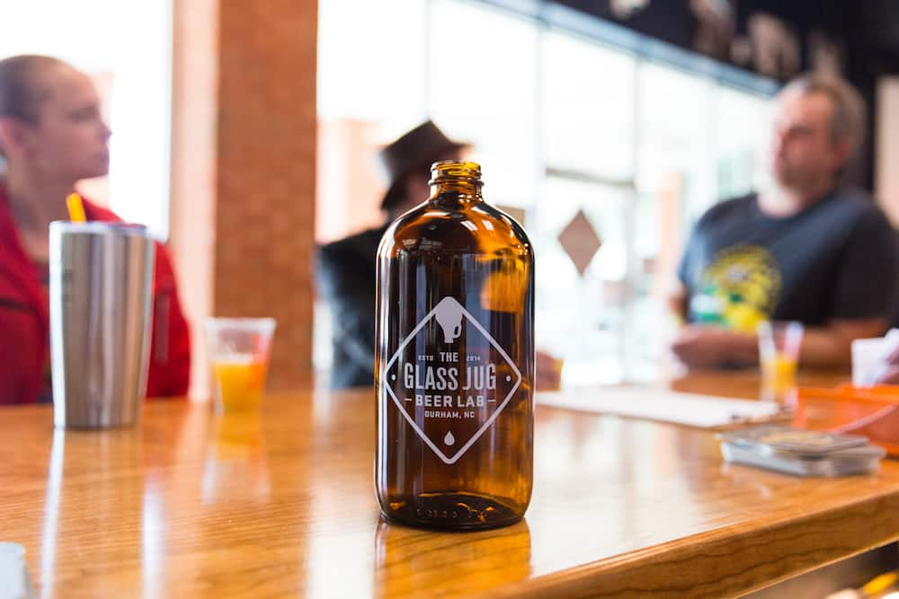 Glass Jug Beer Growler