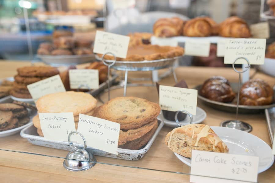 Cookies, scones, pies and muffins are among the many sweet options at East Durham Bake Shop.