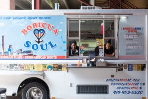 Toriano and Serena Fredericks at their food truck, Boricua Soul