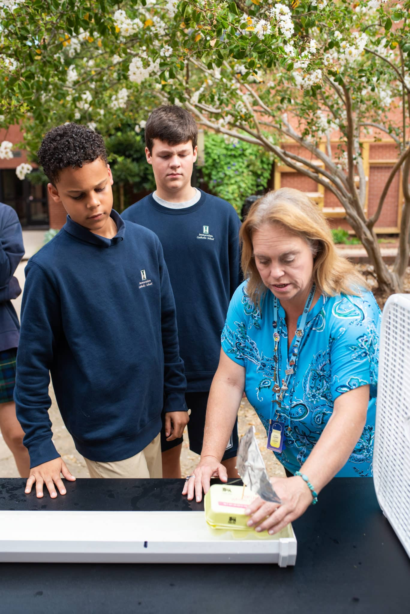 Immaculata Catholic School's STEM director Karen Kingrea