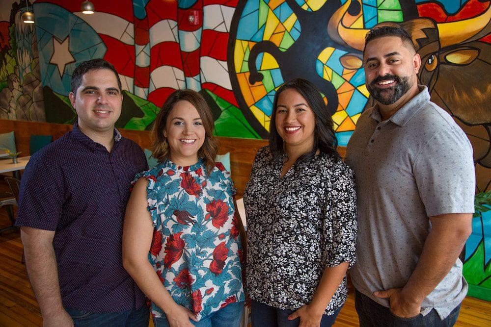 Spanglish owners Antonio Rodriguez, Elizabeth Gutierrez, Gretchen Grajales and Doel Gonzalez
