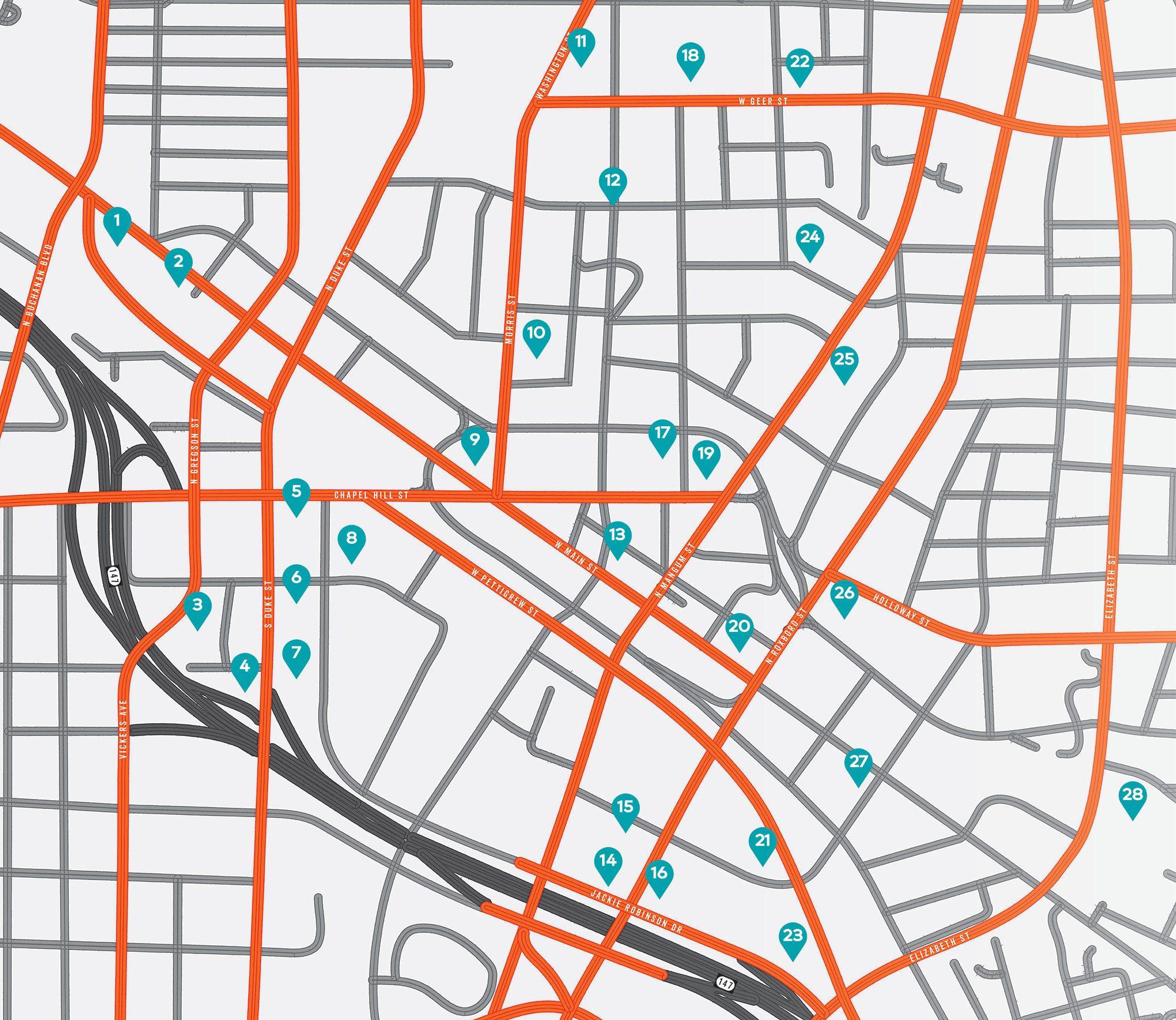Durham Development Map