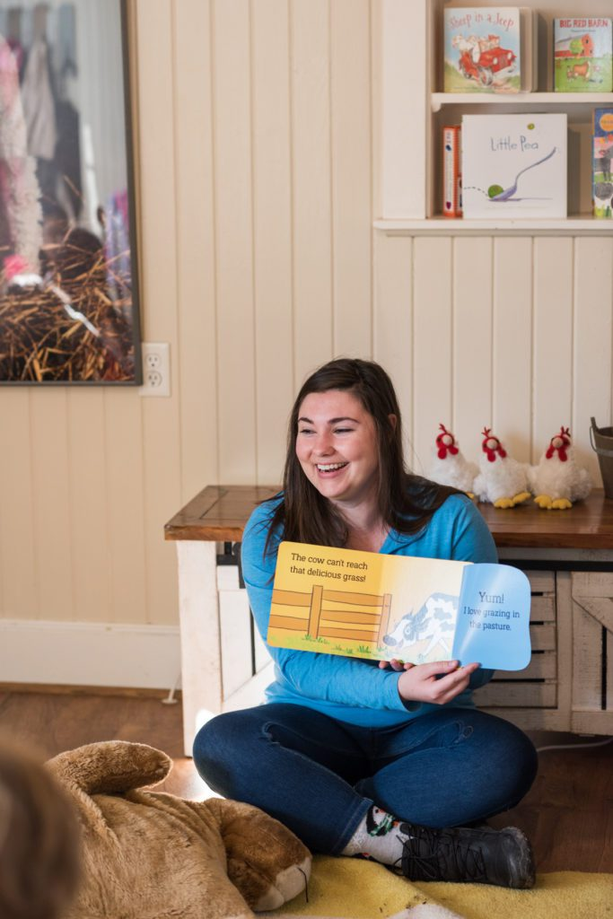 Storyteller Erin Harris at My Little Farmer