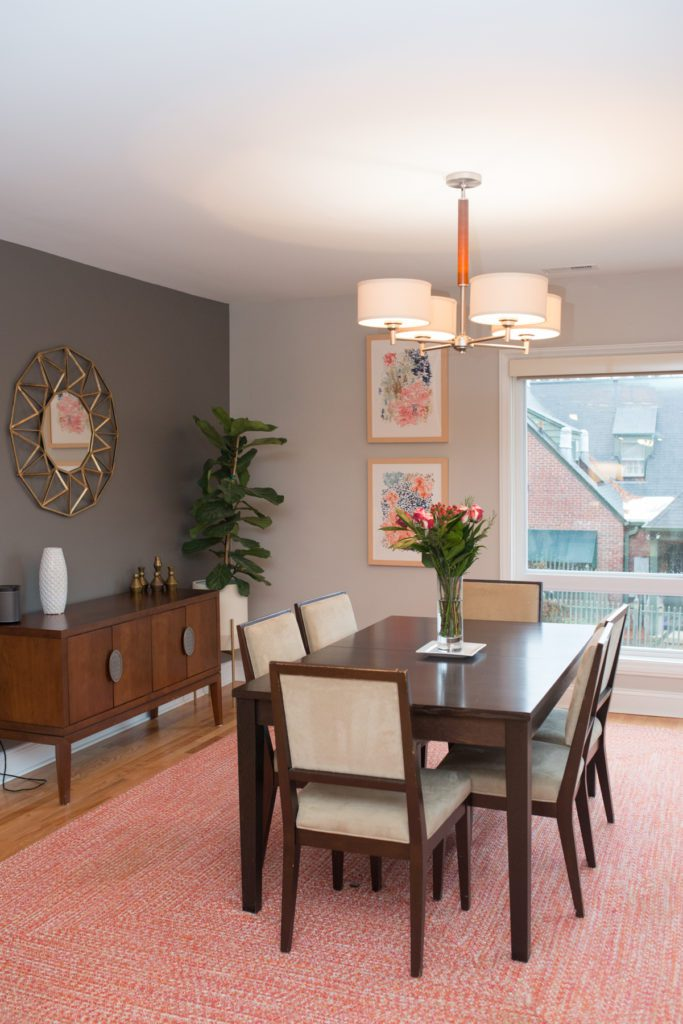 Durham NC Family Renovated Home New Dining Room Area Natural Light Modern Patters