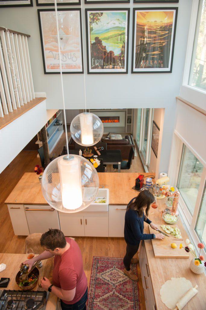 Open Floor Plan Ceiling Sky Light kitchen renovation in Durham NC
