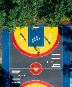 Three refurbished basketball courts were unveiled at Hillside Park in April