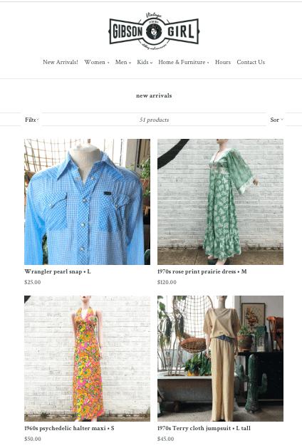 Gibson Girl Vintage online shopping
