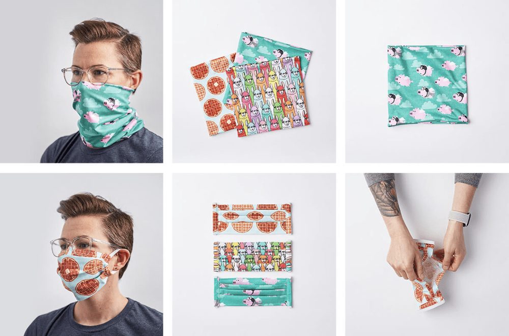 Spoonflower produces masks for healthcare workers during COVID-19 crisis