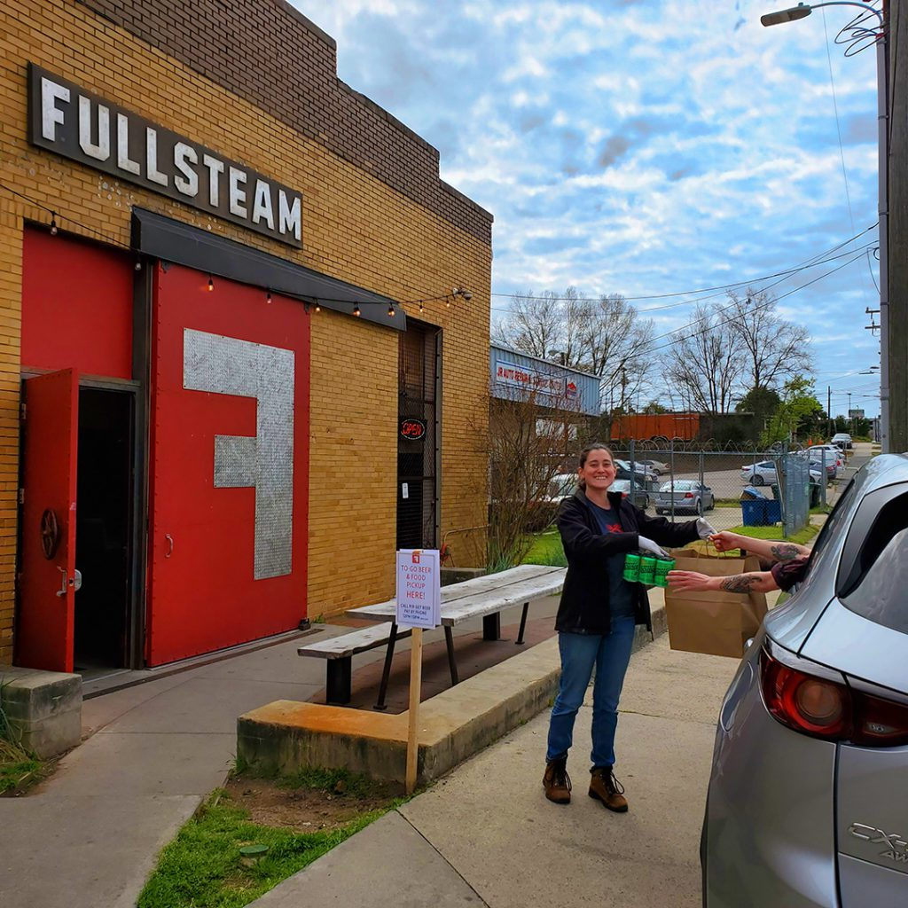 Fullsteam Brewery curbside pickup