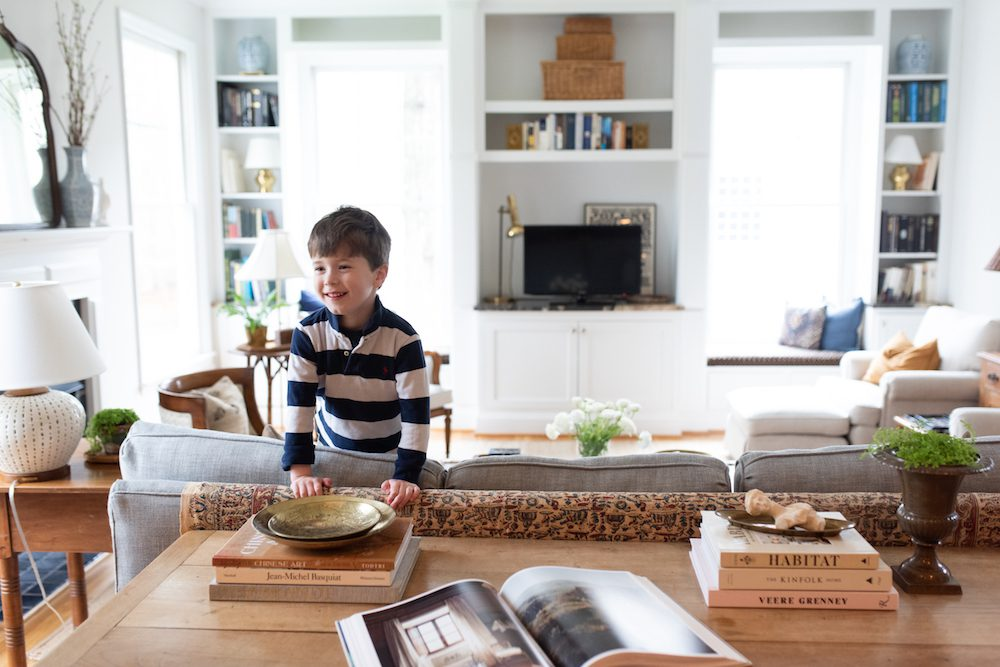 Families: Solomon Goldberg, 5, in the family's spacious living room
