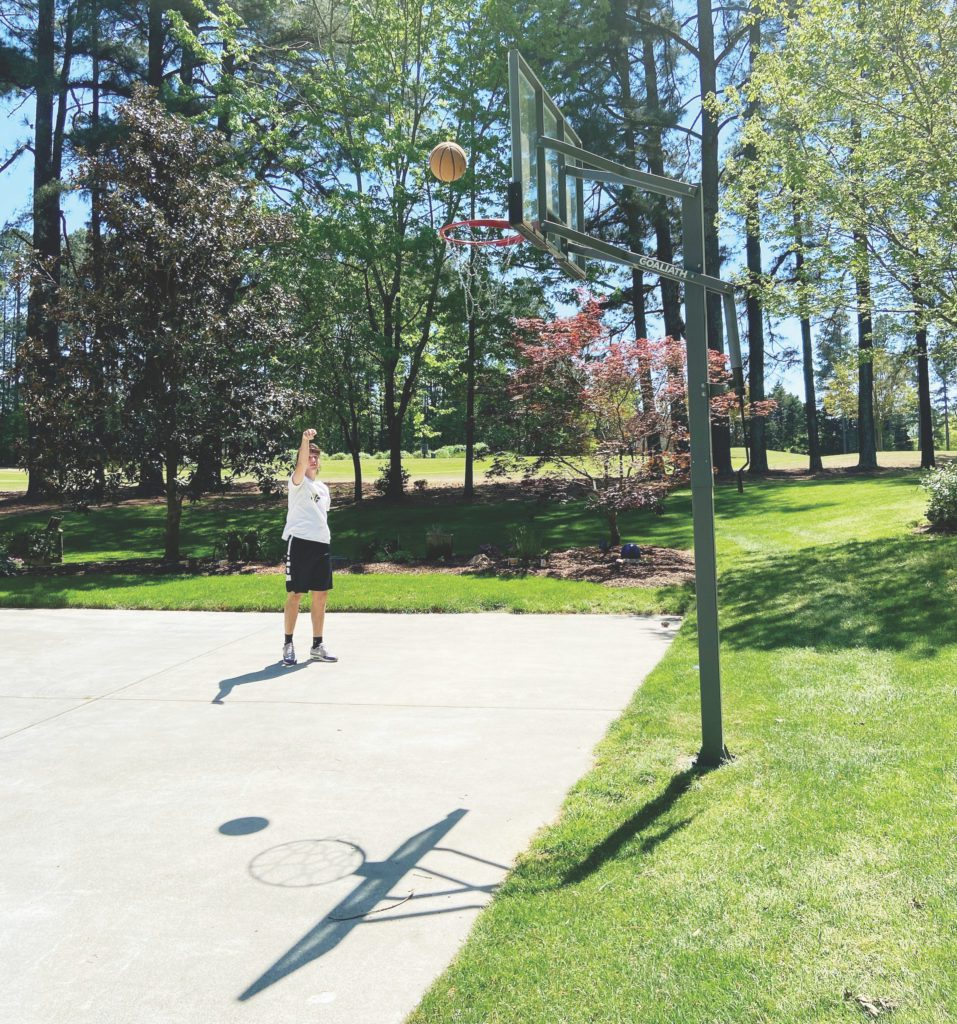 Jake Foley, 16, plays a lot of basketball
