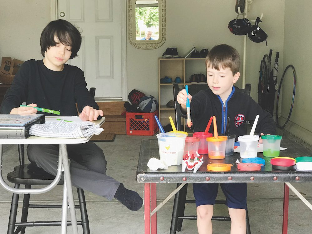 A crafting space for families