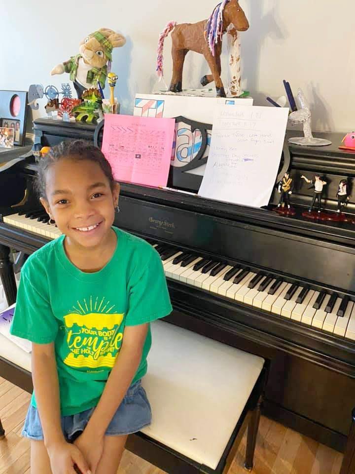 Third grader Laila Sutton