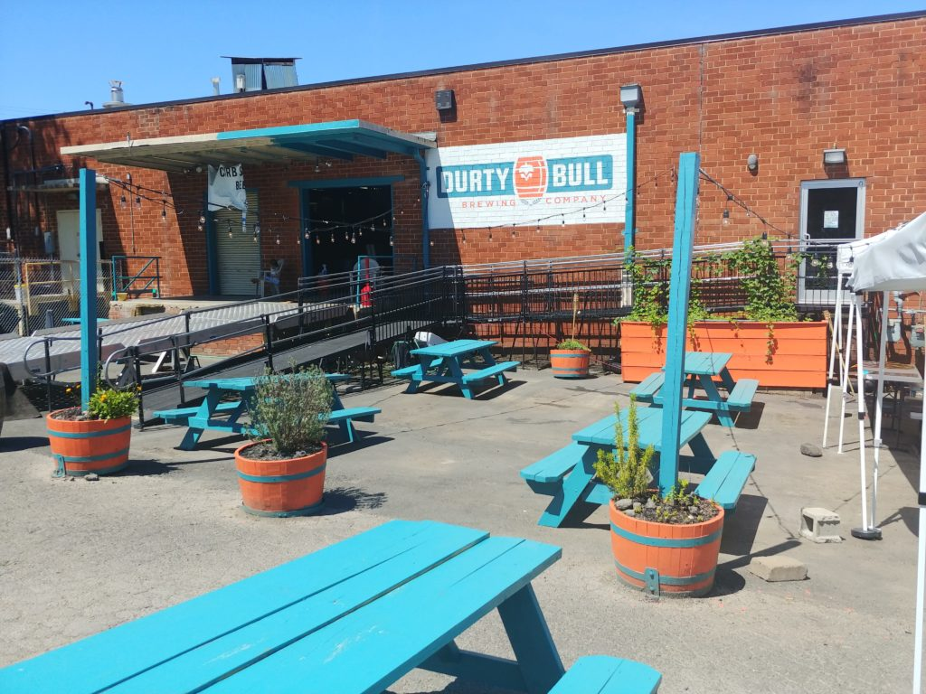 weekend at a glance – Durty Bull Brewing Company's outdoor patio