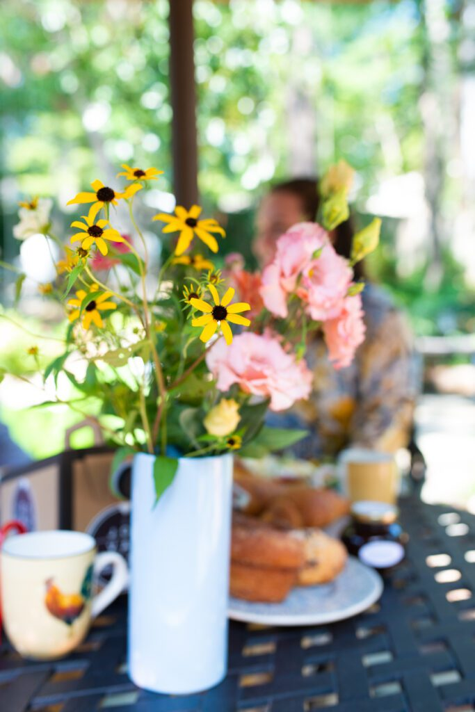 brunch date with flowers from Bowerbird