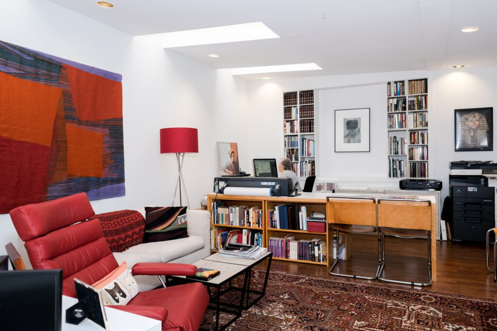 Lyn McClay's office and study in her downtown condo