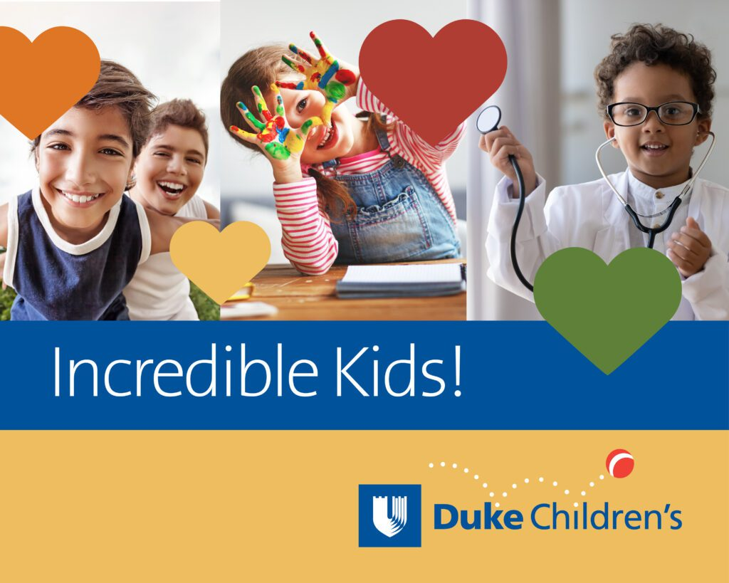 Duke Children's Hospital Incredible Kids Photo Contest February 2021
