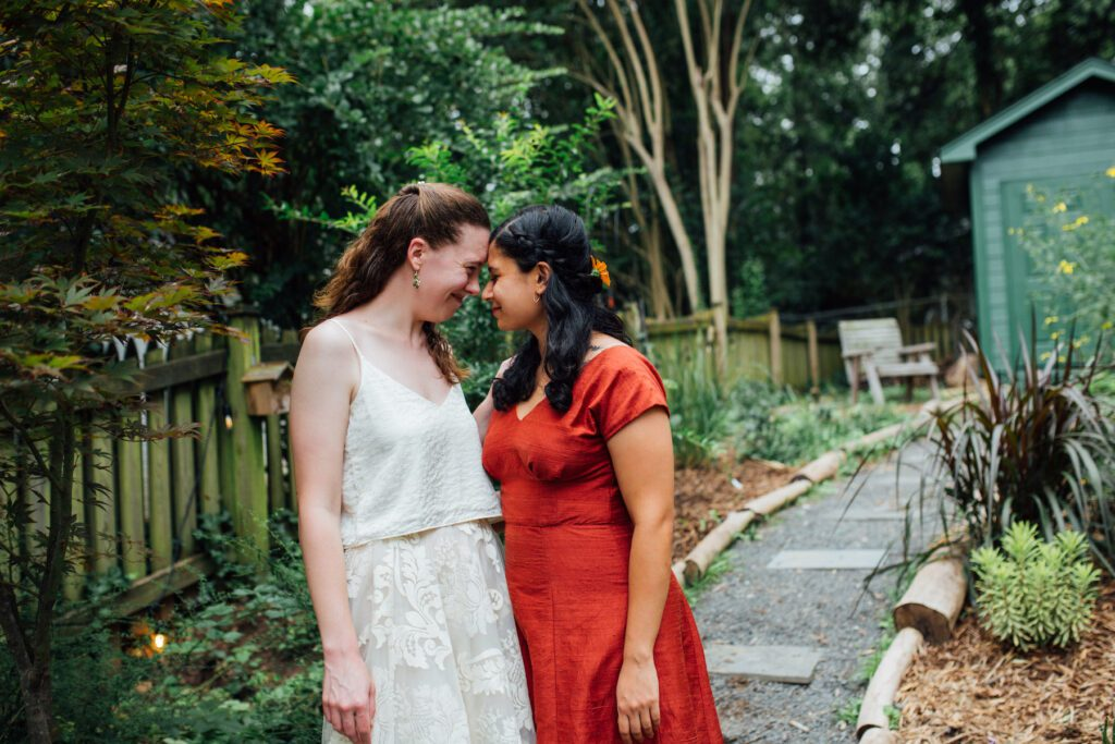 backyard ceremony in Durham – Aastha Garde and Katie Jacobs