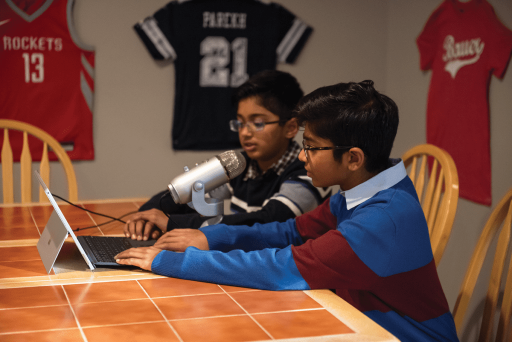 The Parekh kids discuss a range of sports on their podcast