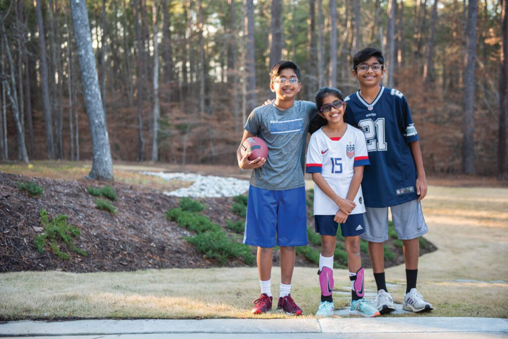The Parekh siblings love sports