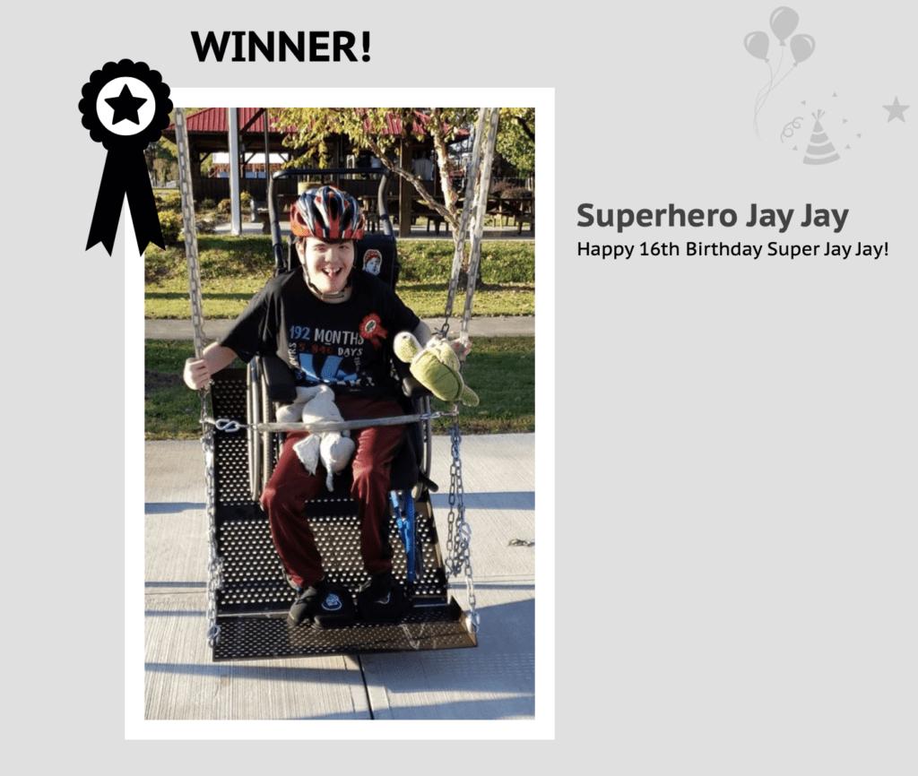 Superhero Jay Jay Duke Children's Incredible Kids Photo Contest Round #1 Winner
