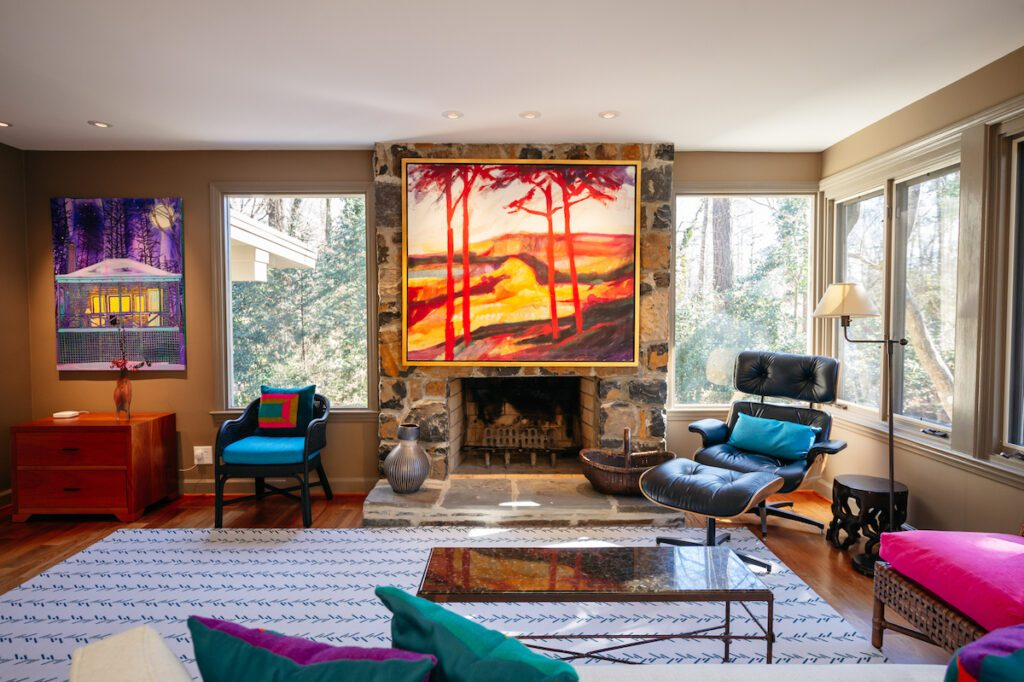 Modernist homes in Durham – fireplace