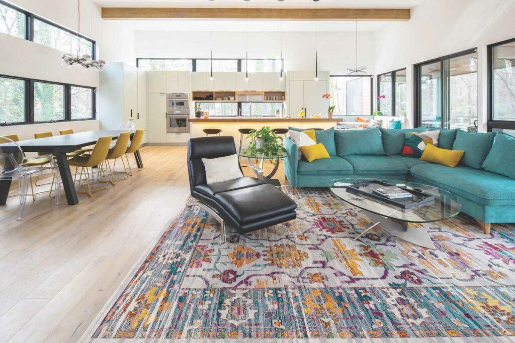 Modernist homes in Durham – living room