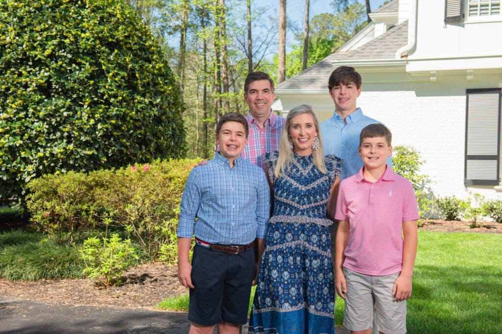 Hogan Family at Hope Valley House