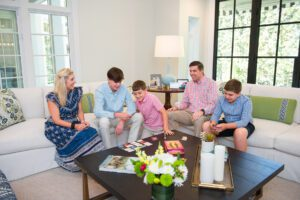 Hogan family in the Hope Valley house