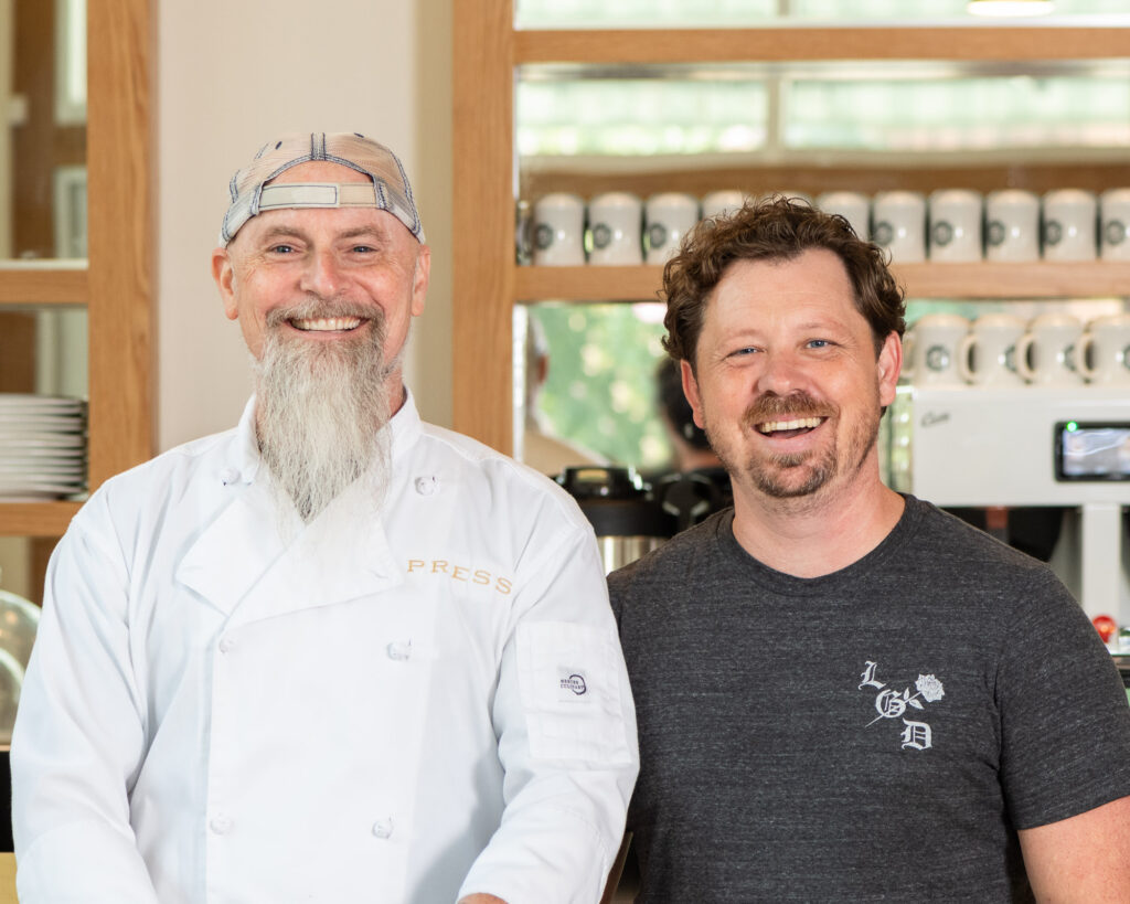 Press Coffee and Crepes co-owners Brett DeVries and Jason Cox