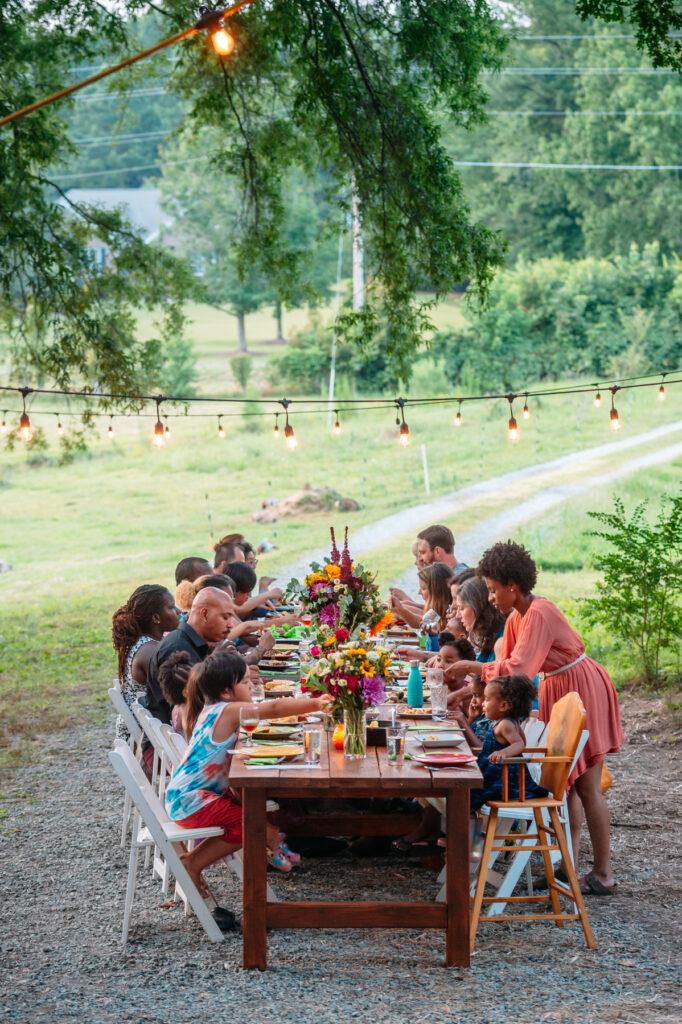 The Farmers Table dinner at Grass Grazed farm