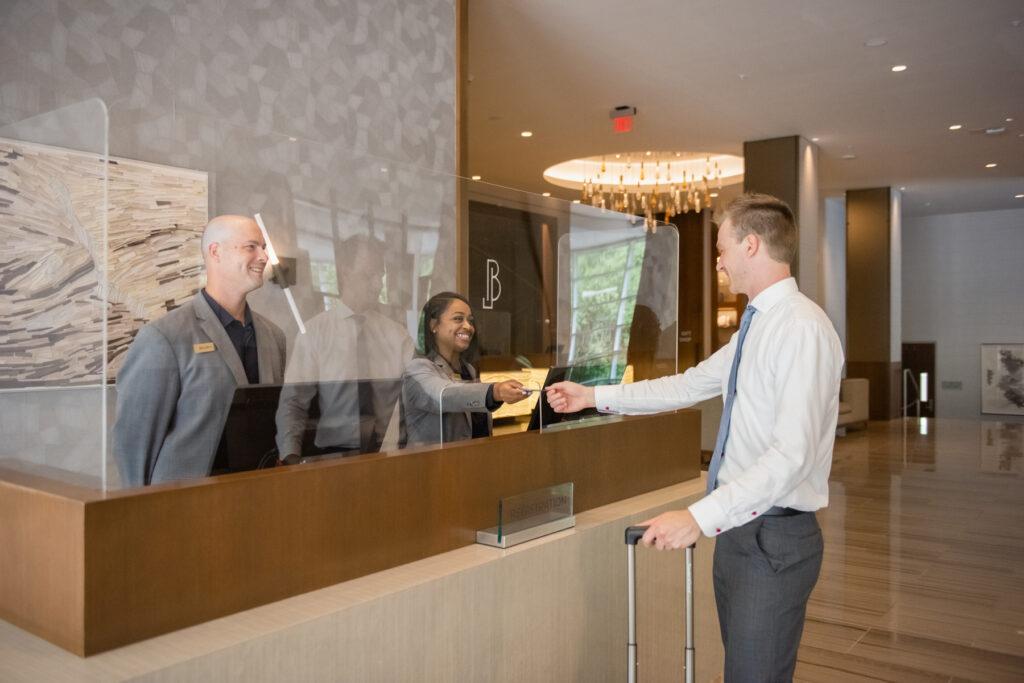 Post-pandemic, hotels like JB Duke welcome visitors to Durham.