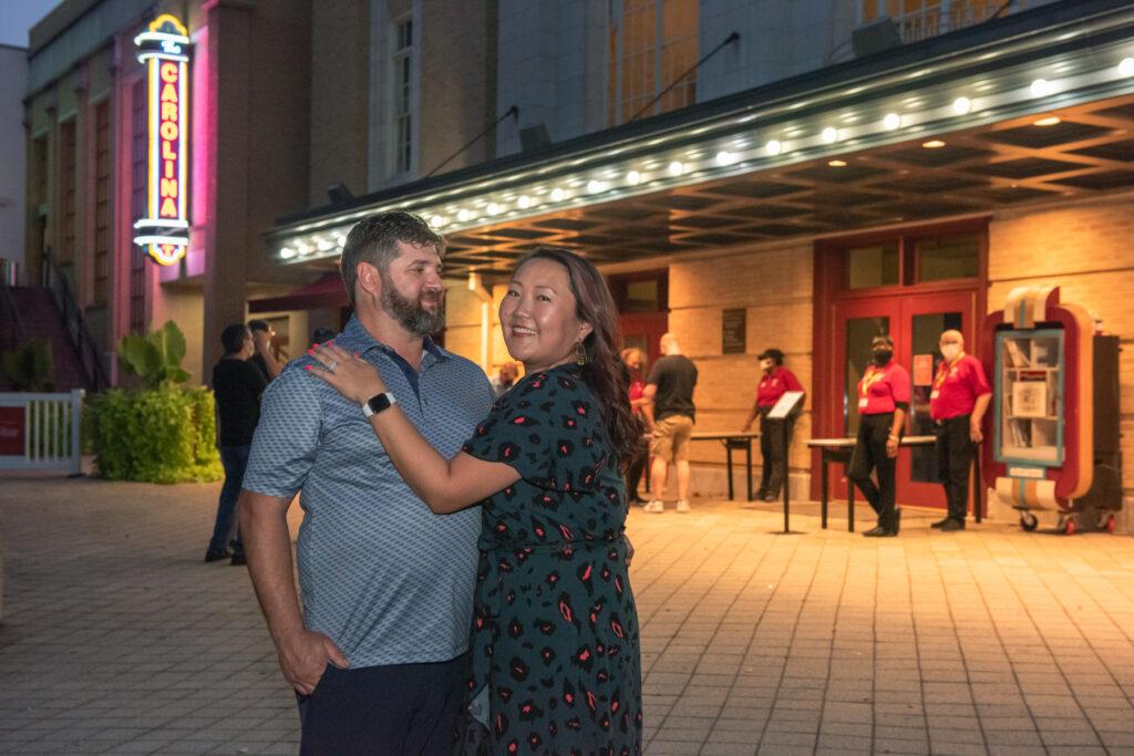 Dan Leszczak and Jessica Lee at The Carolina Theatre