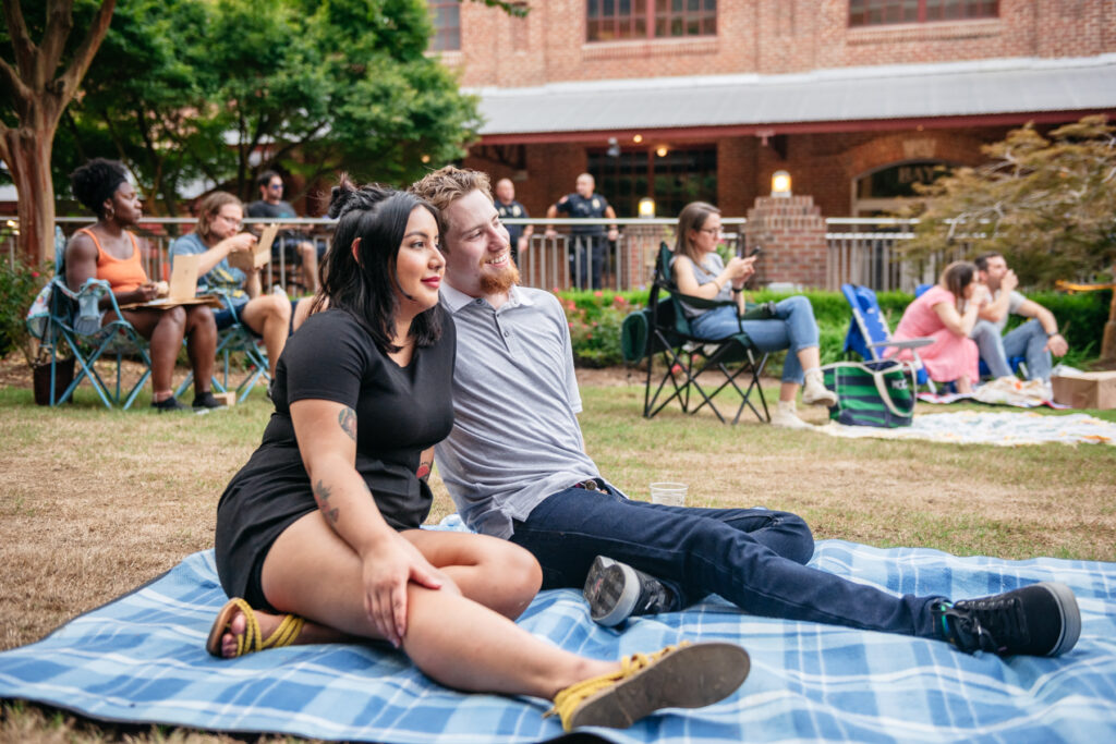 Val Flores and James L. Gore for live music at American Tobacco Amphitheatre