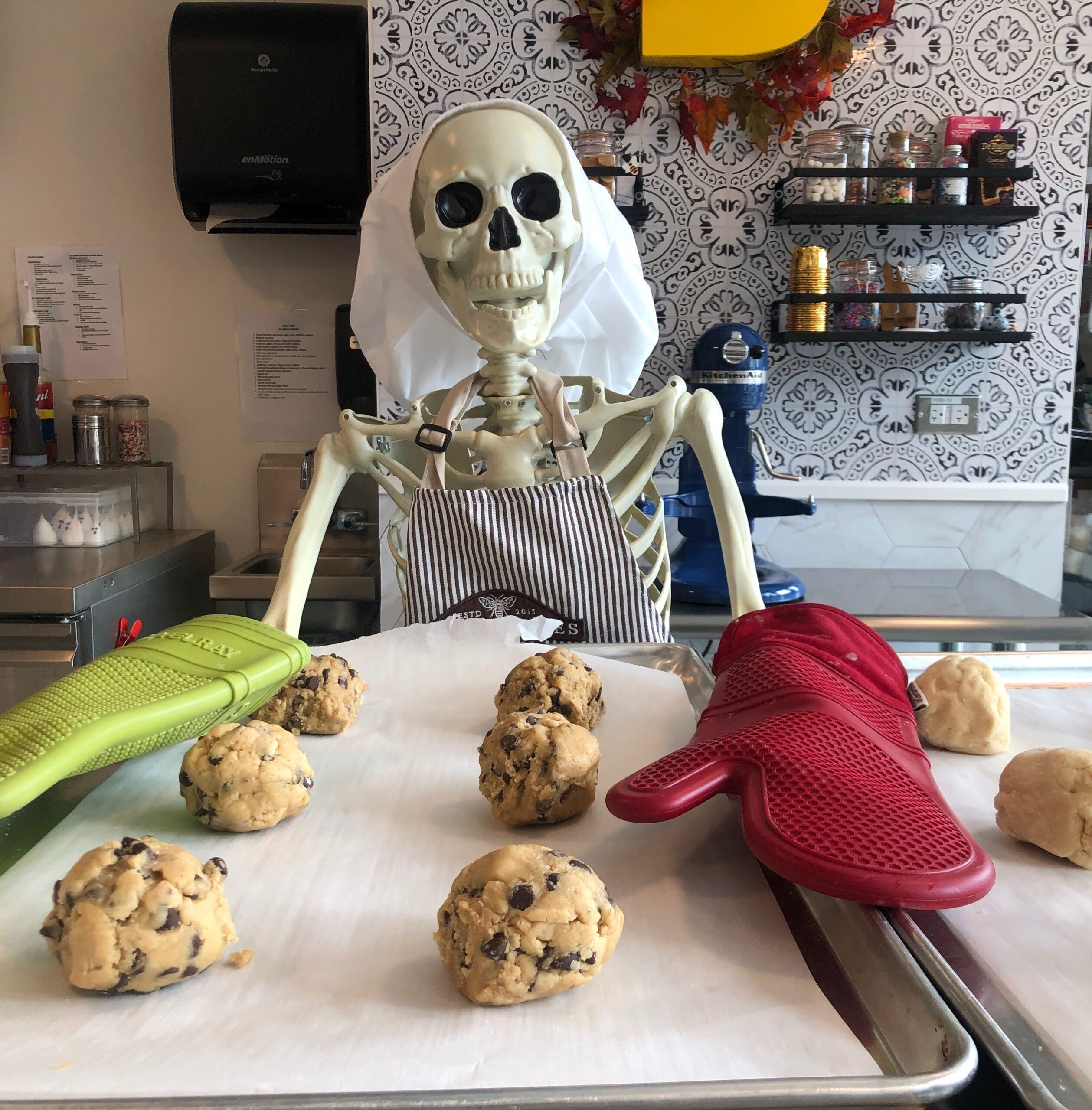 Buzzy Bakes owner Carrie Haub doesn't play around when it comes to Halloween season.